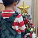 2020.11.14(Sat) クリスマスツリーを飾りつける息子